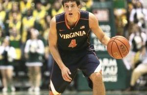 Taylor Barnette dribbling for Virginia
