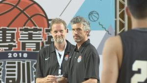 Coach Dave Taylor and Cory in Taiwan 2018