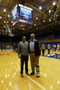 Mike and Cory Heitz at Cameron Indoor Arena