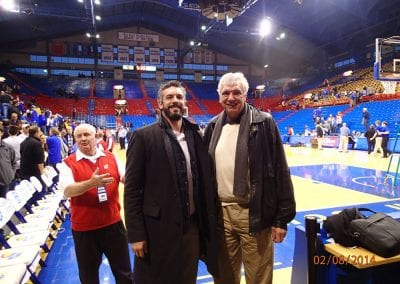 Cory and Mike at Phog Allen Fieldhouse