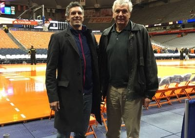Cory and Mike Heitz at Carrier Dome