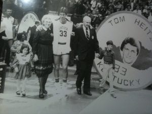 Walking out at Rupp Arena