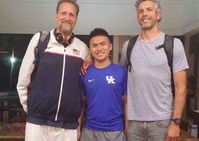 Cory with translator in Taiwan