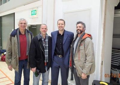 Mike, Jari Vekkila, Hanno Mottola and Cory in Helsinki